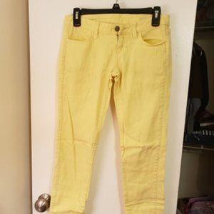 Arizona Pastel Yellow Super Skinny Jeans Size 1